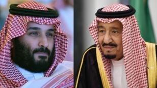 ملك السعودية سلمان بن عبد العزيز وولي عهده محمد بن سلمان