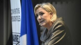La candidate FN à la présidentielle et eurodéputée Marine Le Pen.