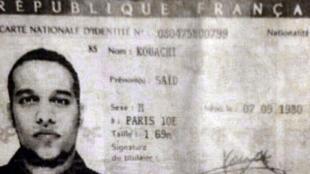 Copie de la carte d'indentité de Saïd Kouachi.