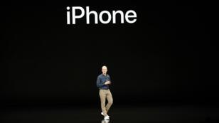 Tim Cook, CEO de la empresa de teconología Apple reveló detalles de los nuevos iPhone otros productos de la empresa el 12 de septiembre de 2018.