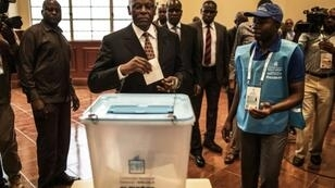 Angola's Jose Eduardo dos Santos, shown here voting in last year's election won by Joao Lourenco, says he wants to be remembered for his dignified exit from the office he held since 1979