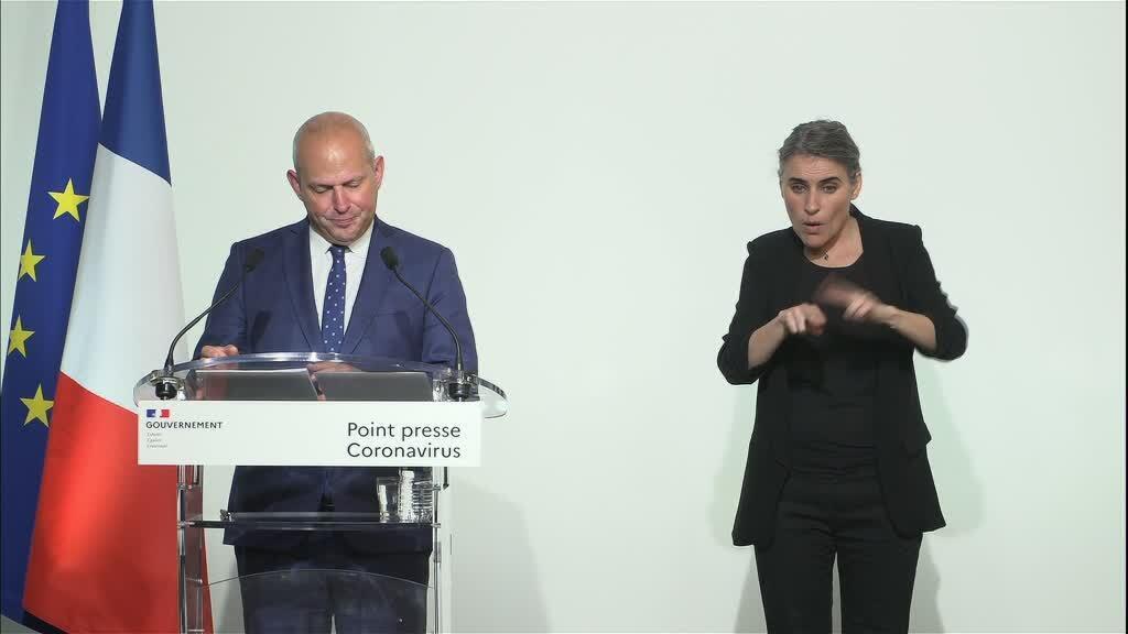 Jérôme Salomon, directeur général de la Santé, lors de son point presse, le 17 avril 2020.