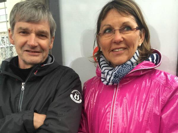 Dominique et Dominique, retraités du secteur hospitalier.