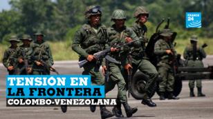 Miembros de la Guardia Nacional participan en un ejercicio militar en el aeropuerto García Hevia en La Fría, Venezuela, 10 de septiembre de 2019.