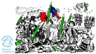 Cartooning for Peace est au cœur du Forum mondial de la Démocratie, dédié cette année à l'information et à la démocratie.