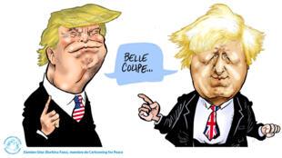 Le président américain Donald Trump et le candidat au poste de Premier ministre britannique Boris Johnson s'échangent des compliments.