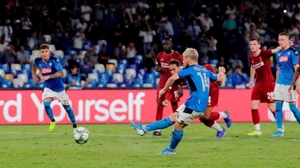 دوري أبطال أوروبا: هزيمة لليفربول في نابولي وتعادل سلبي لبرشلونة ودورتموند