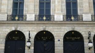 Façade du Ritz, en fin de rénovation, le 27 mai 2016.