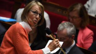 La ministre de la Culture Françoise Nyssen le 3 octobre 2017 à l'Assemblée nationale.