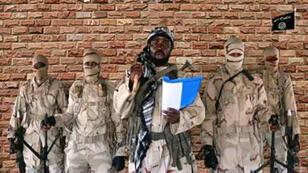 Capture d'écran d'une vidéo de propagande montrant un sermon d'Abubakar Shekau, chef de Boko Haram.