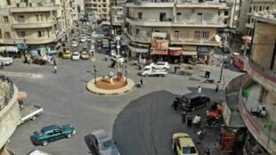 منظر عام لمدينة إدلب السورية في 30 أيلول/سبتمبر