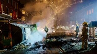 The riots have spread since the curfew came into effect on Saturday