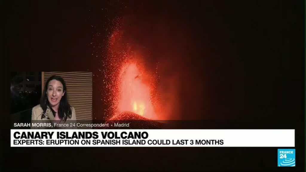 2021-09-23 08:12 Eruption on Spanish island could last 3 months, experts say