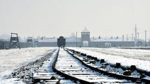A picture taken on January 27, 2014 shows the railway tracks at the former Nazi concentration camp Auschwitz-Birkenau in Oswiecim, Poland