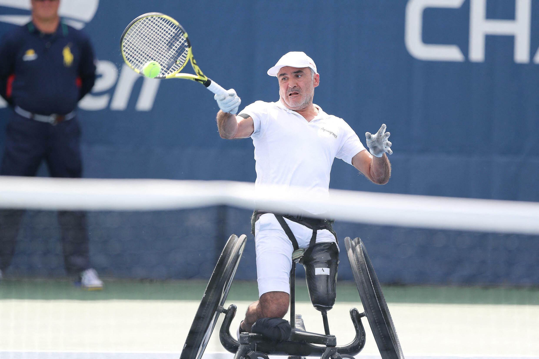 Le tennisman Stéphane Houdet lors de l'US Open, le 8 septembre 2019 à New York.