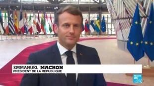 2020-07-20 13:06 Emmanuel Macron s'exprime depuis Bruxelles avant la reprise des négociations