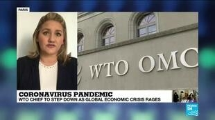 2020-05-14 18:01 WTO Chief Azvedo to step down earlier amid 'post-Covid reality' as global economic crisis rages
