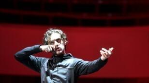 """Le danseur et acteur Sergueï Polounine, lors d'une répétition de son spectacle """"Sacre"""", le 14 février 2019 à Moscou"""