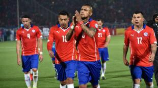 Le milieu de terrain Arturo Vidal et son armada chilienne.