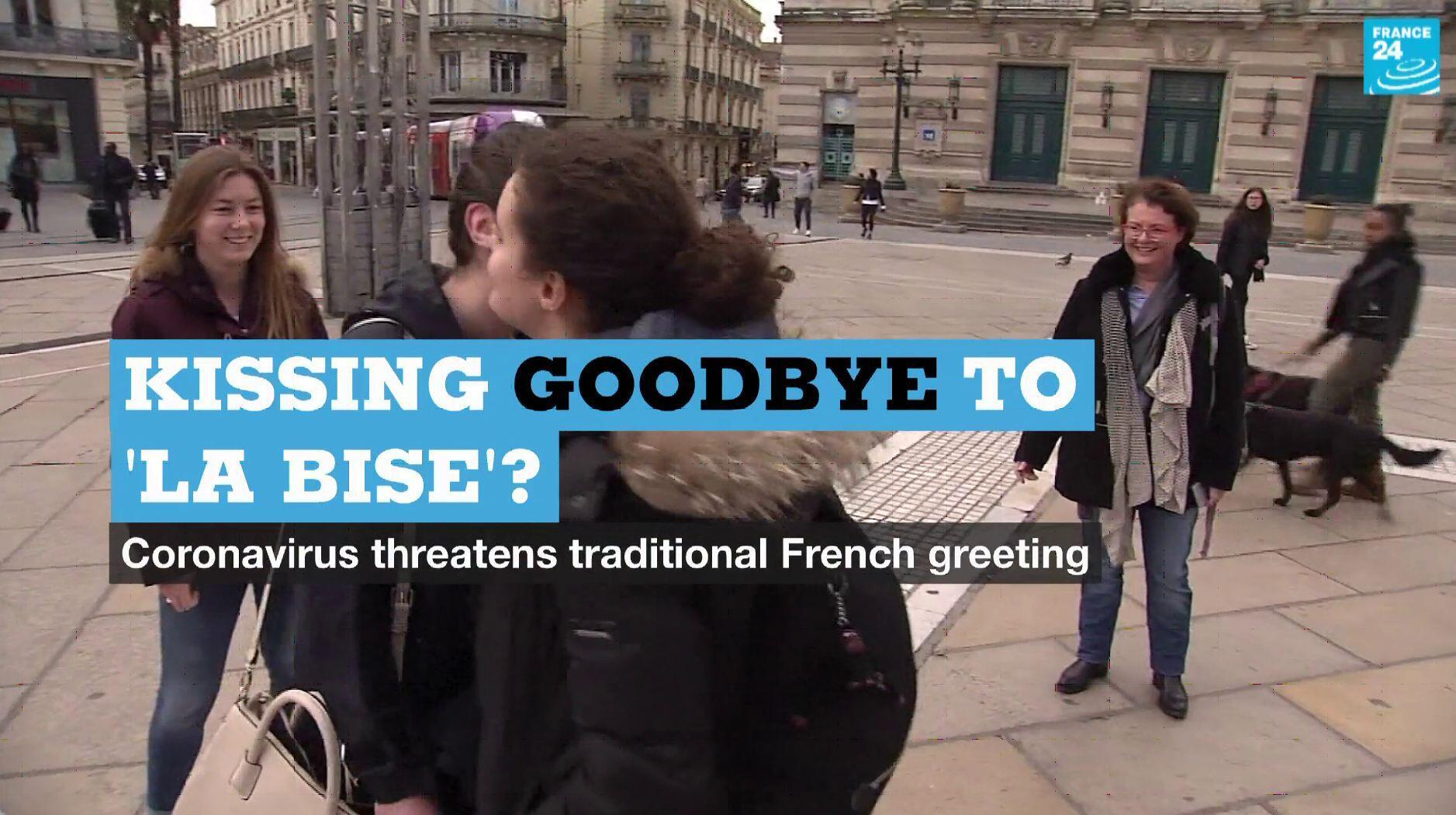 French government health officials have advised against greeting people with a kiss amid the coronavirus outbreak.