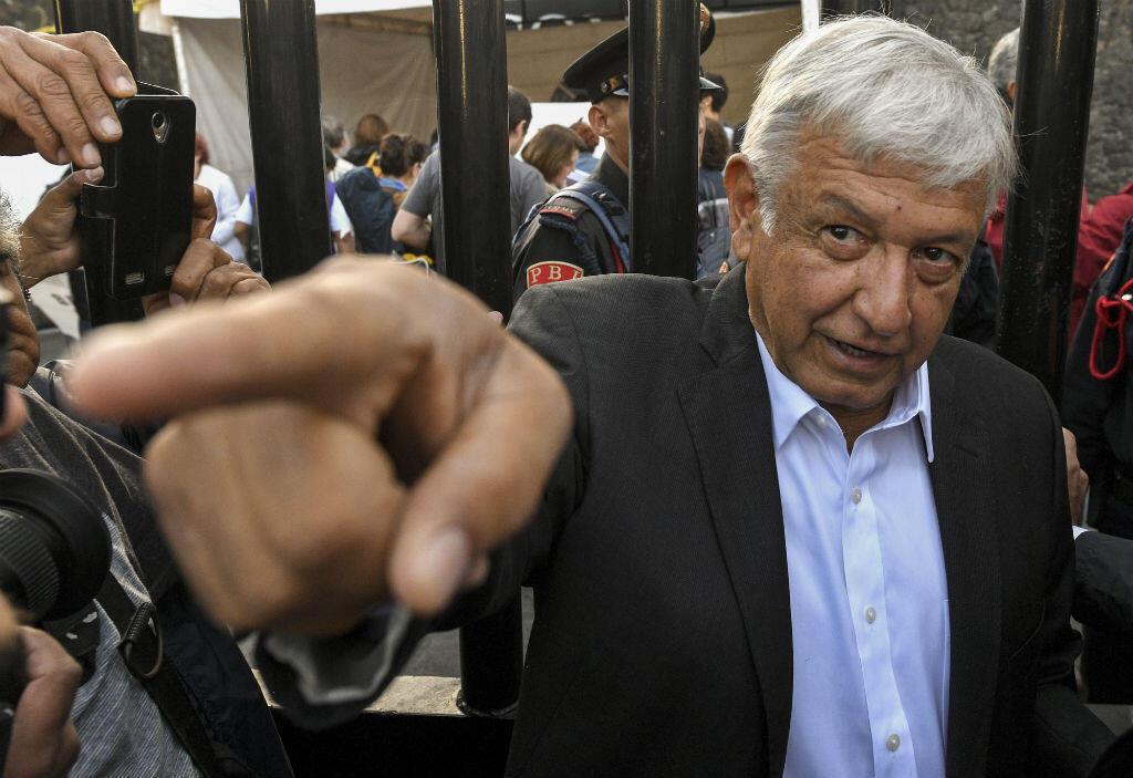 Andrés Manuel Lopez Obrado, le 1er juillet 2018 à Mexico city.
