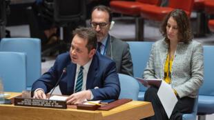 Carlos Ruiz Massieu, representante especial del secretario general y jefe de la Misión de Paz en Colombia, se dirige al Consejo de Seguridad de la ONU este 10 de octubre de 2019.
