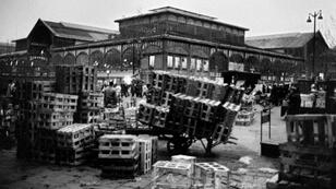Les Halles in central Paris on February 25, 1969, days before the centuries-old market was shut and relocated to the suburbs