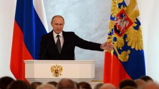 """Vladimir Poutine a offert une """"amnistie totale"""" à ceux qui rapatrient leurs capitaux en Russie."""