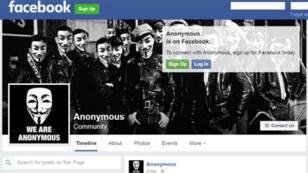 La page Facebook d'extrême droite Anonymous.Kollektiv n'avait aucun lien avec le collectif du même nom.