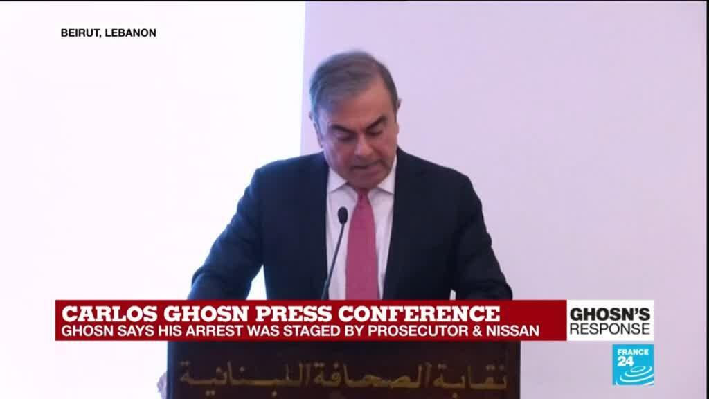 """2020-01-08 14:32 """"Carole has a lot of courage"""": Carlos Ghosn defends wife Carole wanted in Japan"""