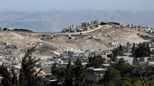 File picture: the Israeli separation wall near Jerusalem