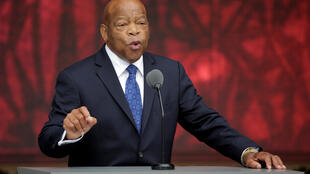 US Representative John Lewis (D-GA) speaks at the dedication of the Smithsonian's National Museum of African American History and Culture in Washington, D.C. on September 24, 2016.