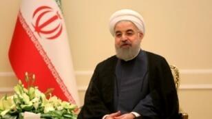 الرئيس الإيراني حسن روحاني في طهران في 6 تشرين الثاني/نوفمبر 2017.