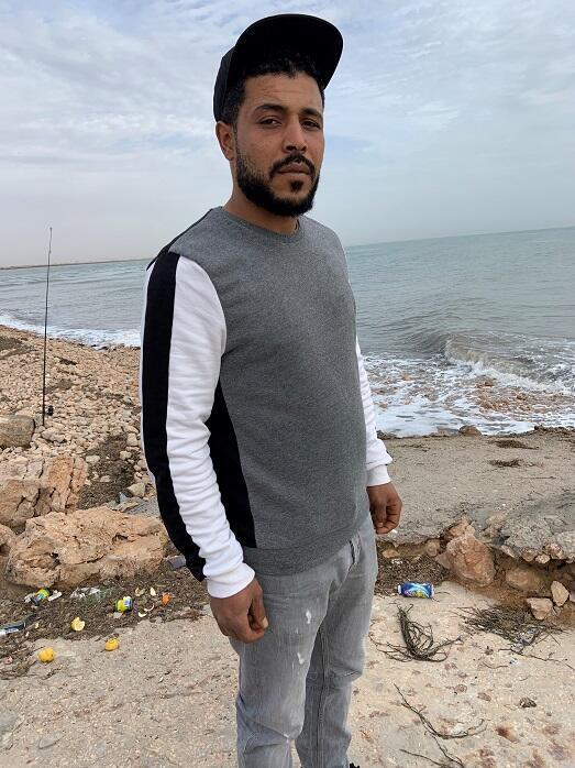 © طاهر هاني فرانس24 |علي العياشي (30 عاما) مهاجر غير شرعي أو