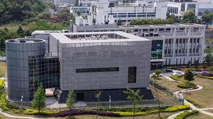 An aerial view of the P4 laboratory in Wuhan, China taken April 17, 2020.