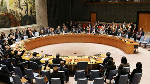 @AFP | Members of the U. N. Security Council vote to impose new sanctions on North Korea on December 22, 2017 in New York.
