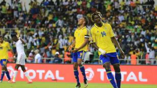 Pierre Emerick Aubameyang déçu au coup de sifflet final. Le Gabon et le Burkina Faso ont fait match nul 1-1.