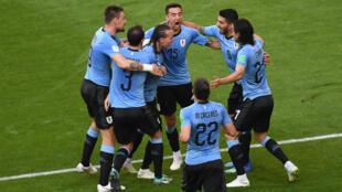 Les Uruguayens ont fini en tête du groupeA du Mondial-2018.