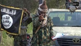 """الصورة من فيديو دعائي لجماعة """"بوكو حرام"""" المتشددة"""