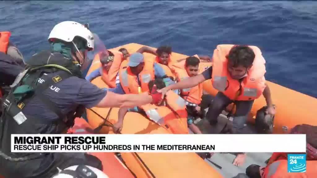 2021-07-05 16:37 Rescue ship picks up over 200 migrants in Mediterranean