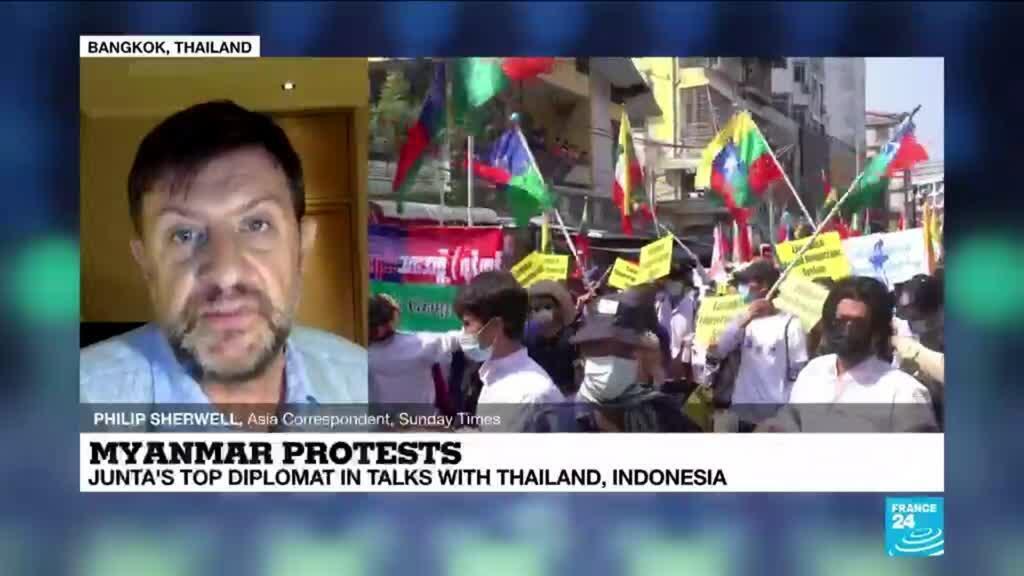 2021-02-24 13:31 Myanmar junta's top diplomat in talks with Thailand, Indonesia