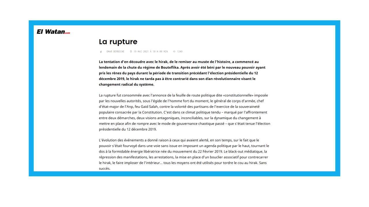 Début de la campagne pour les législatives en Algérie
