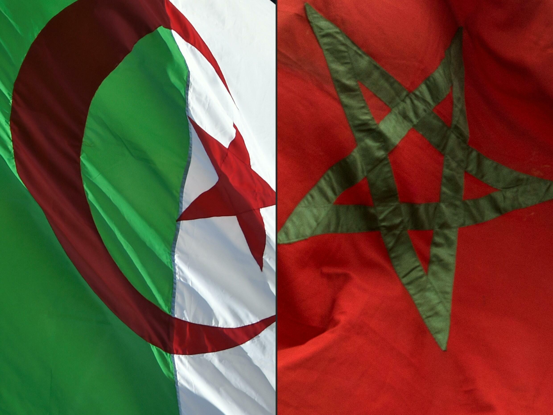 صورة مركبة تُظهر العلمين الجزائري والمغربي