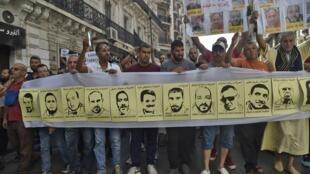 الجمعة ال34 من الحراك الشعبي في الجزائر. 11 أكتوبر/تشرين الأول 2019.