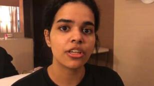 Image d'une vidéo postée par Rahaf Mohammed Al-Qunun sur Twitter, le 7janvier2019.