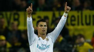Cristiano Ronaldo, auteur d'un doublé avec le Real Madrid mardi soir.