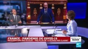 """2020-04-28 16:30 Coronavirus - Philippe à l'Assemblée : Un déconfinement le 11 mai, """"mais à certaines conditions"""""""