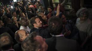 Emmanuel Macron au Shrine, à Lagos, mardi 3 juillet 2018.