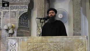 زعيم  تنظيم الدولة الإسلامية أبو بكر البغدادي
