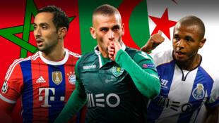 Benattia (Bayern Munich), Slimani (Sporting Portugal) et Brahimi (FC Porto).